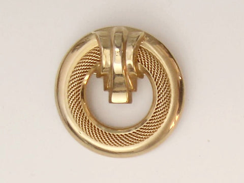 'MC CLELLAND BARCLAY' Gold Tone Brooch
