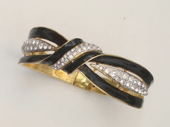 Enamel & Crystal Bangle Bracelet Kenneth Jay Lane