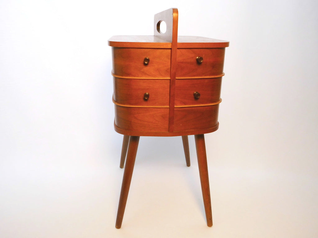 Sewing Box  Oak   Danish Design  50s 60s