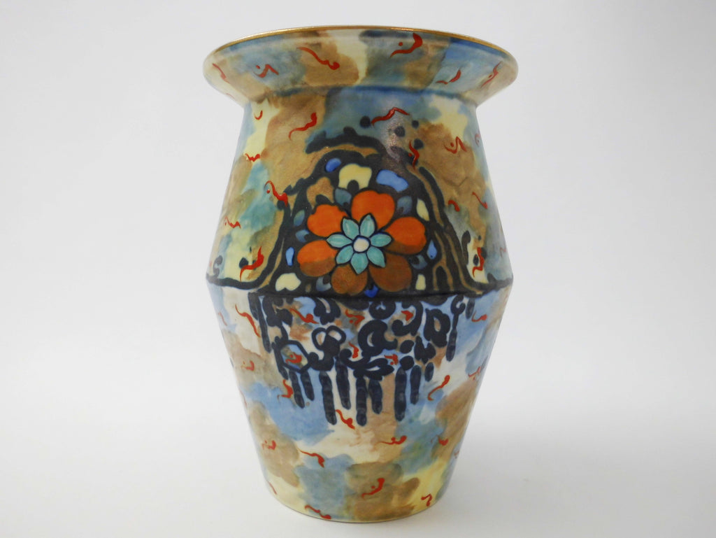 Vase Tahiti Storm Shape 342 Hand Painted by John Butler 1929 A J