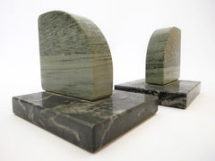 2 Bookends made of two different kinds of Marble. First half of the 20th Century.