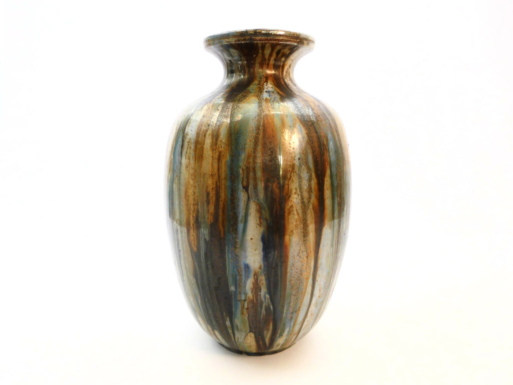 Impressive Stoneware Vase by Roger Guérin (1896-1954), who worked in Bouffioulx Belgium. He produced Salt-glazed  grès and becomes very famous  during the Art Deco period, especially in France.