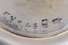 Gold over Silver A835 Bowl  WOLFERS Frères S.A. Brussels. 1942-1975 Makers Mark.