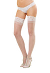 Dreamgirl One Size Sheer Thigh High Stockings with Silicone Lace Top