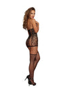 Dreamgirl One Size Lace Garter Dress with Stockings
