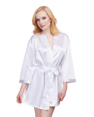 Dreamgirl Satin Charmeuse Bride Robe