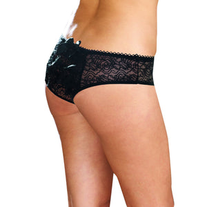 Dreamgirl Plus Size Stretch Lace Crotchless Panty