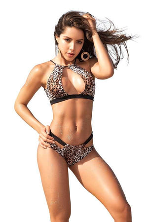 Mapale Animal Print Two Piece Swimsuit