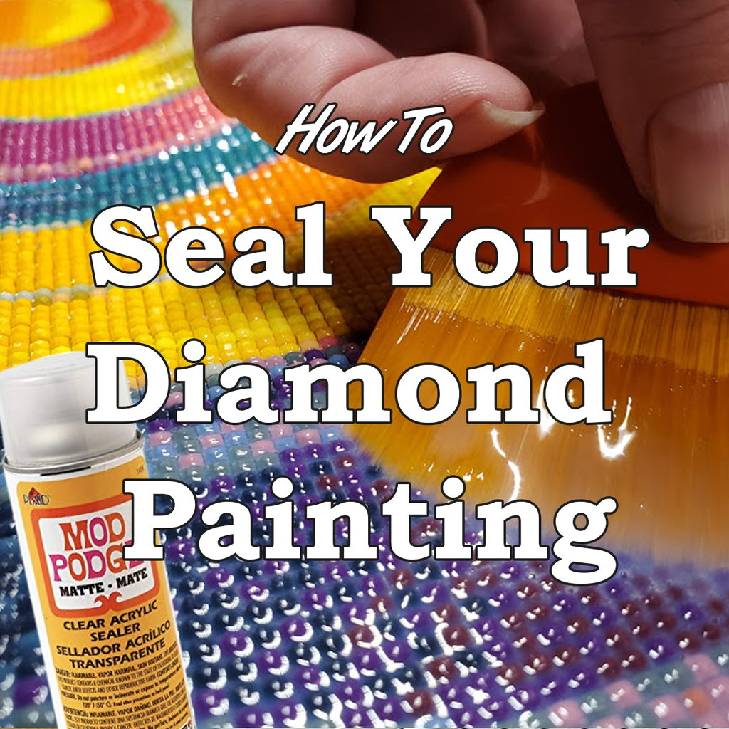 How do you seal a diamond painting?