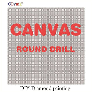 5D Diamond Painting Square/Round With Markings Canvas Blank Grid