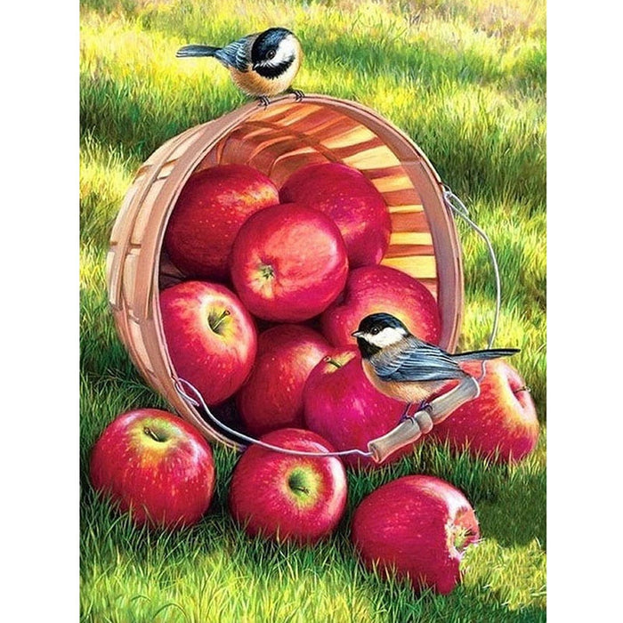 Apple Bird 5d Diamond Embroidery
