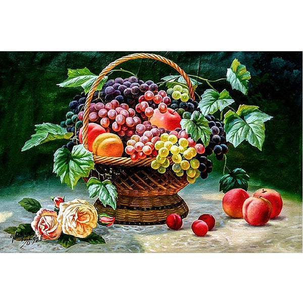 Flower Basket Fruit  5D Diamond Painting