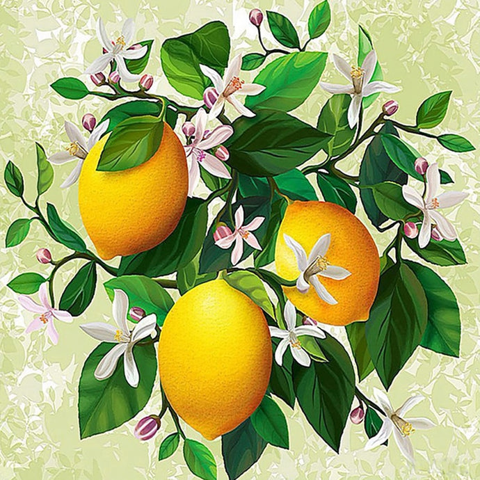 Lemon Flower 5D Diamond Painting kits
