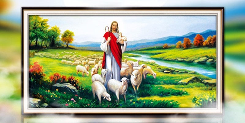 Jesus Sheep Diamond Painting