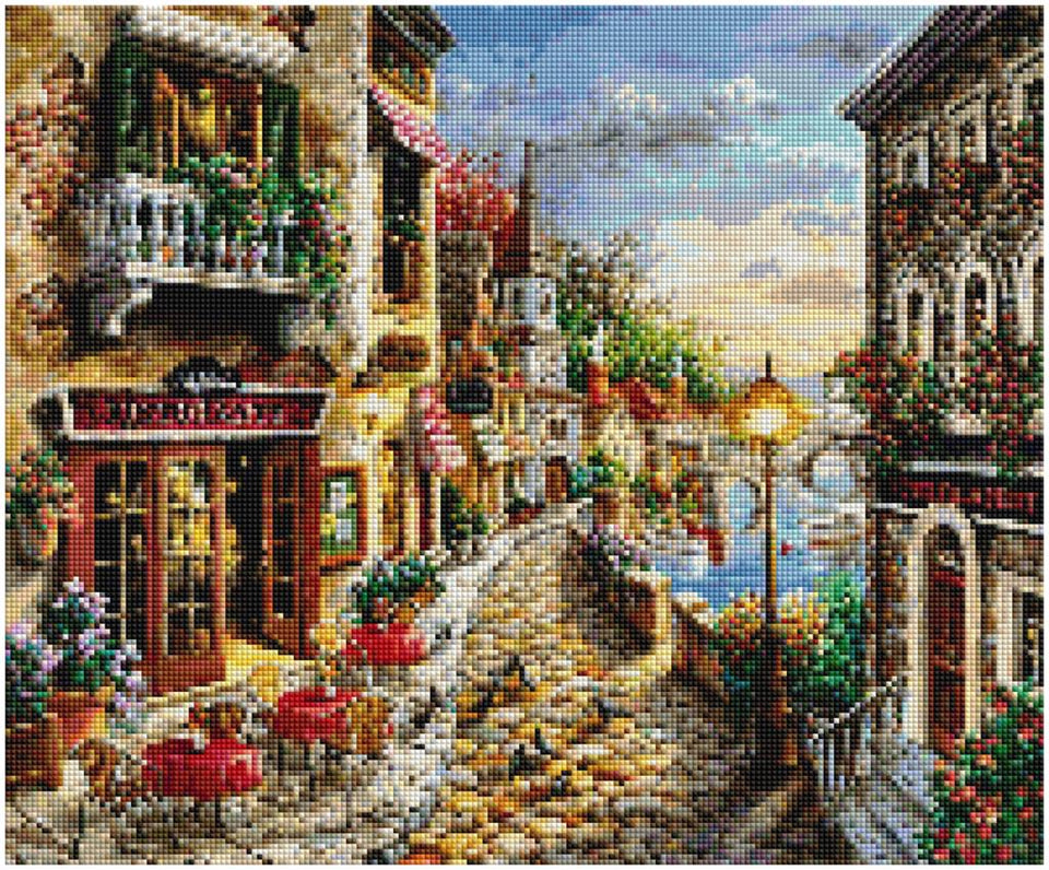 City Street 5D Painting Art