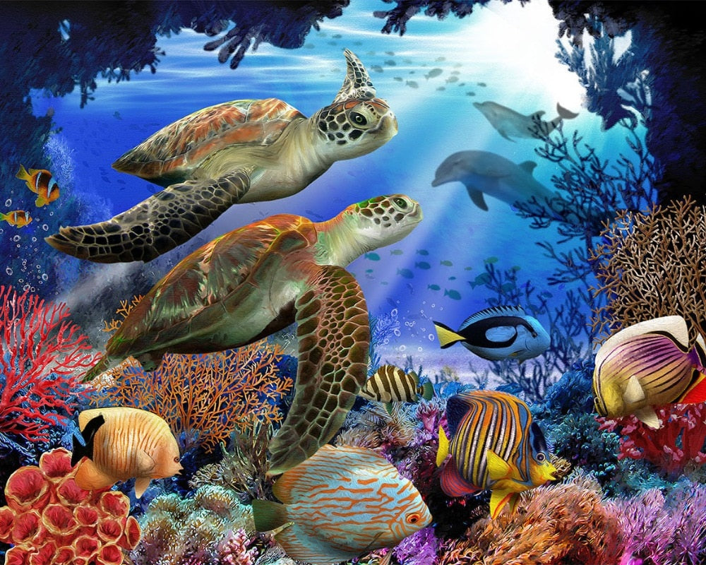 Turtles In Sea World 5D