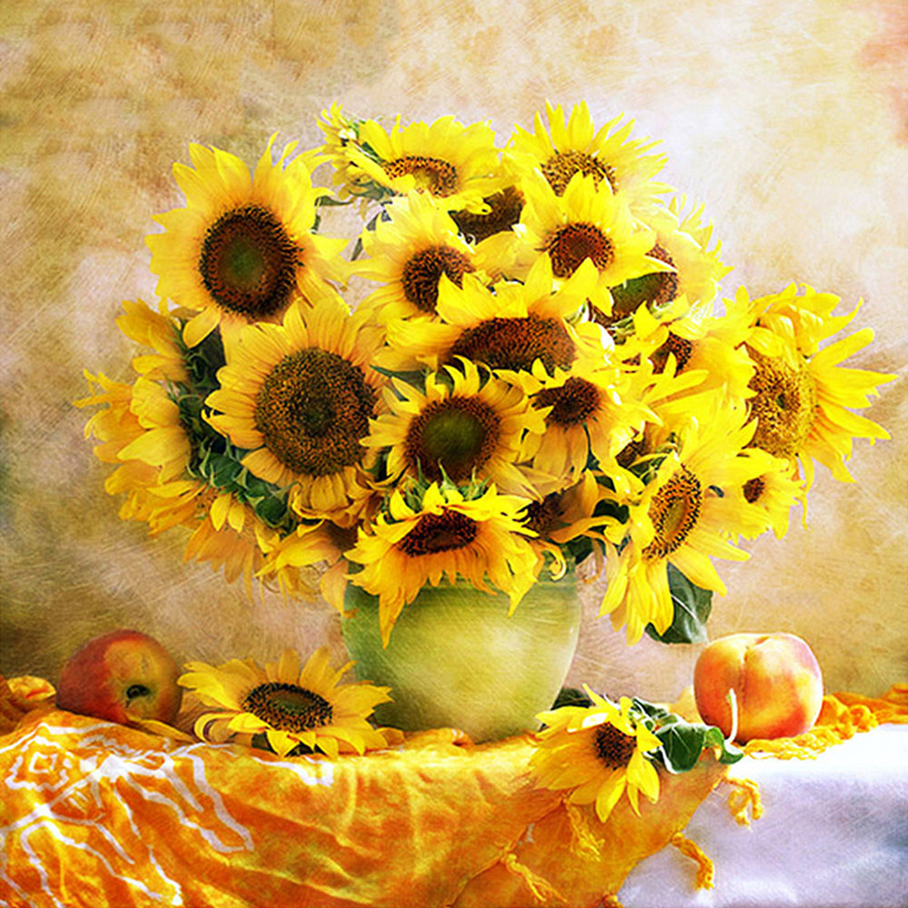 Sunflower Yellow Flowers 5D Painting