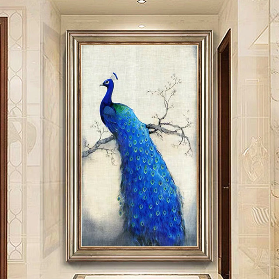 Blue Peacock Diamond Painting