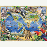 Animal World Map Diamond Painting