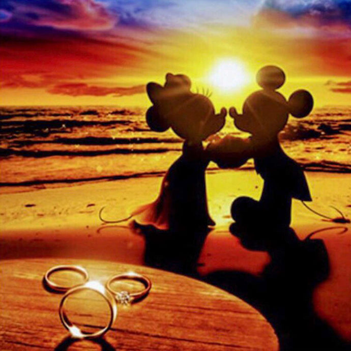 Mickey Mouse Sunset Cross Stitch Kit
