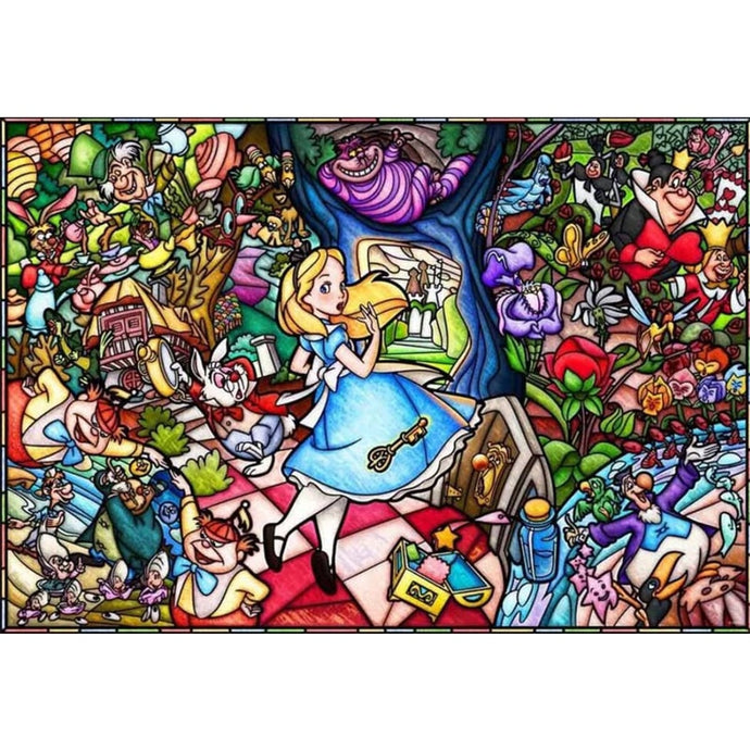 Stitch Alice in Wonderland Diamond Painting