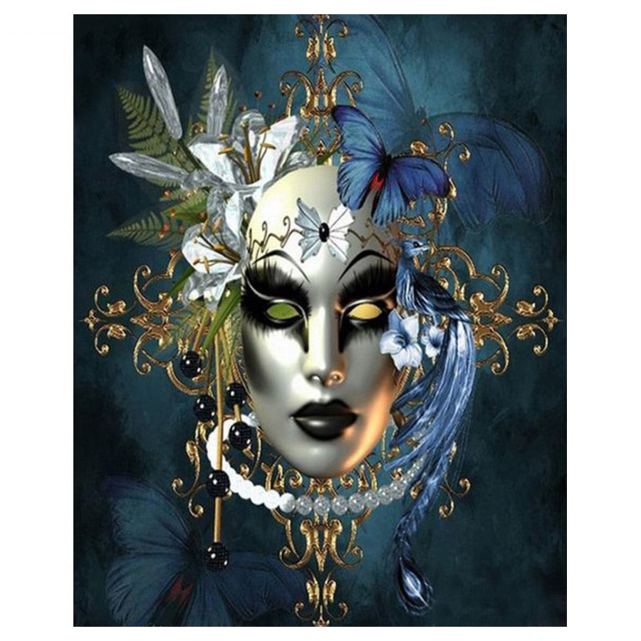 Woman Mask Halloween Diamond Painting