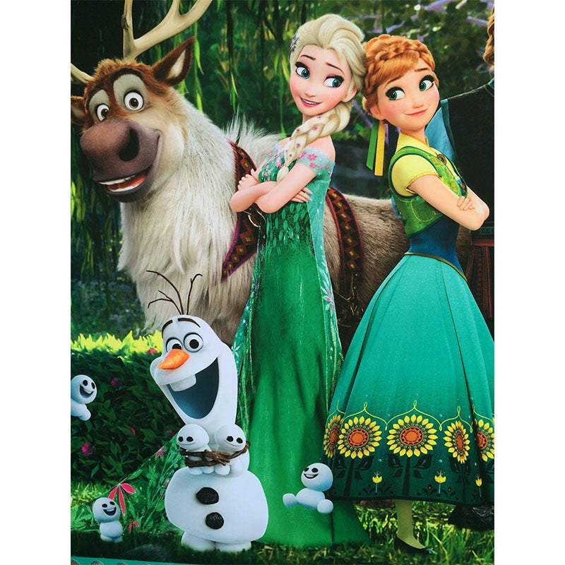Cartoon Elsa & Anna Diamond Painting