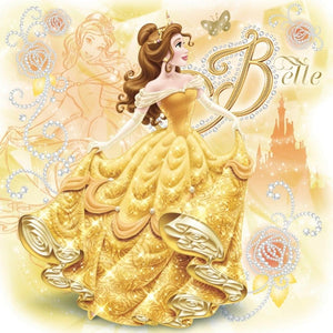 Princess Belle Cartoon Diamond Painting