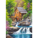 Landscape River Mill Diamond Painting