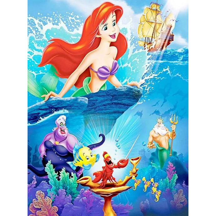 Princess Ariel Mermaid Diamond Painting
