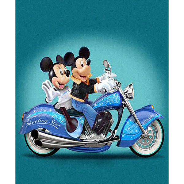 Mickey Mouse on Bike Diamond Painting