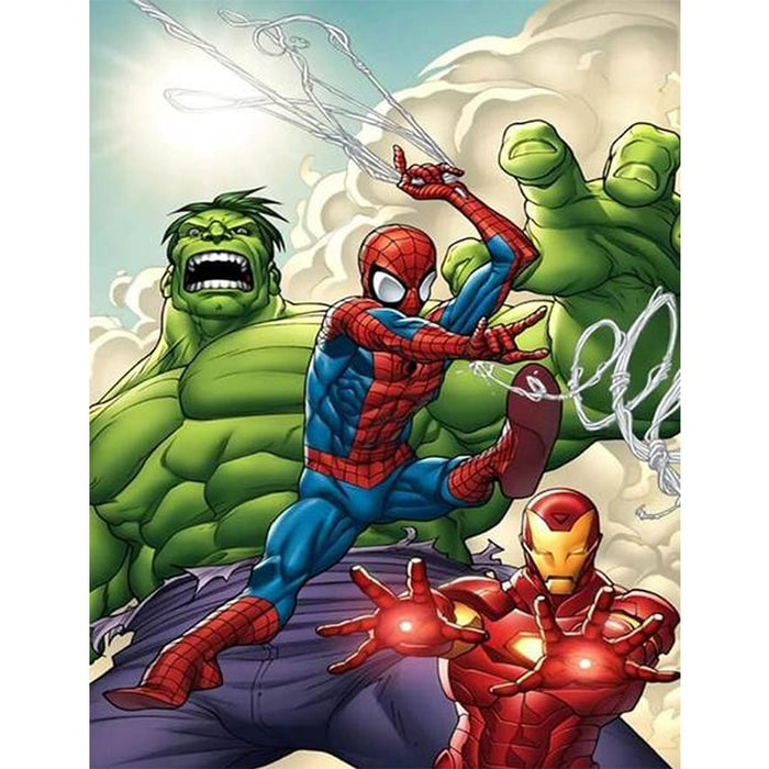 Spiderman Ironman Hulk Diamond Painting