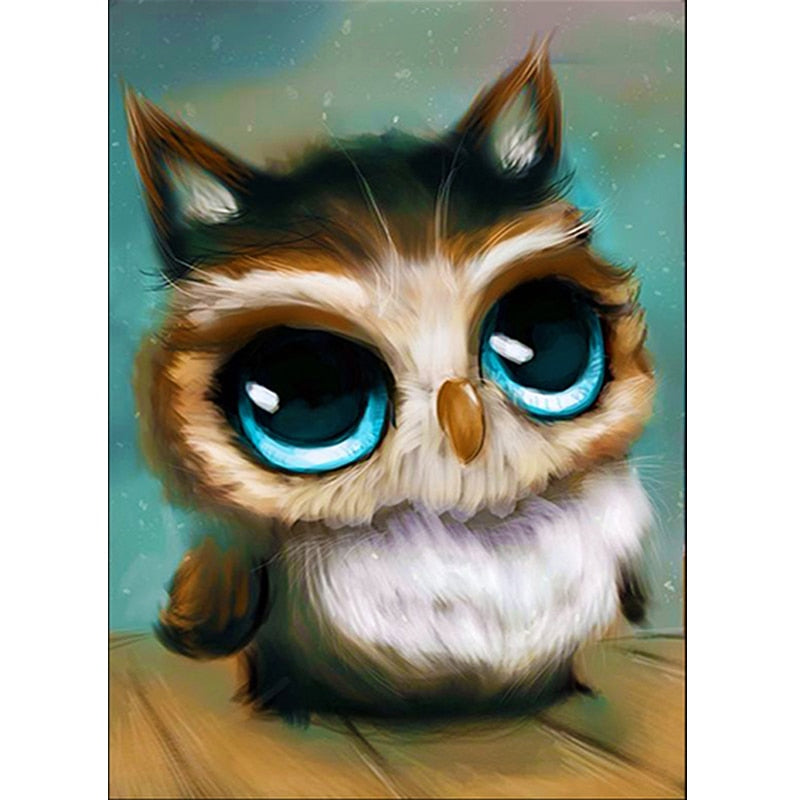 Owl Cartoon Diamond Painting