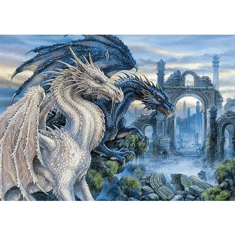 Mystical Dragons Embroidery Cross Stitch Kit