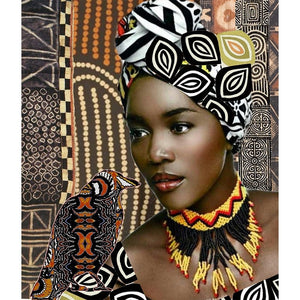 African Woman Cross Stitch Kit