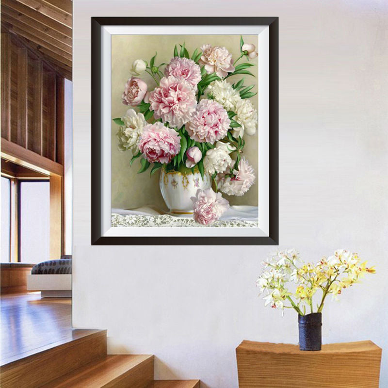 Peony Flower Diamond Painting