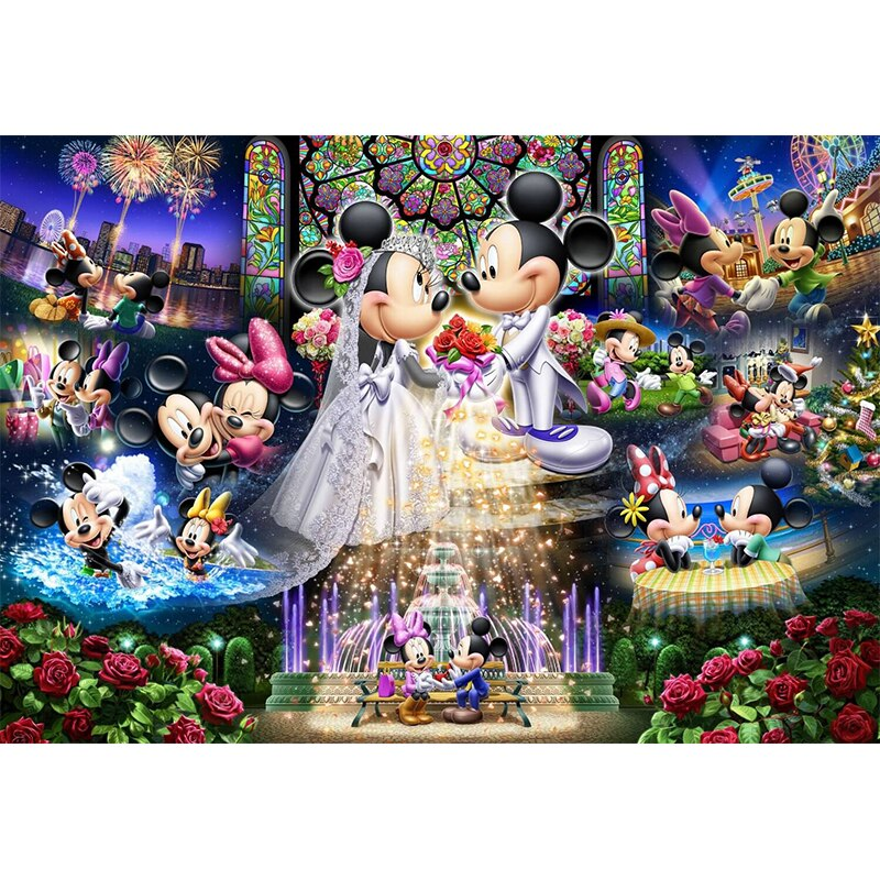 Mickey Mouse Wedding Diy Diamond Embroidery