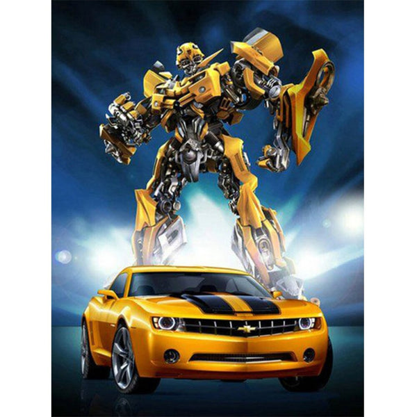 Transformers & Car Embroidery Cross Stitch Kit