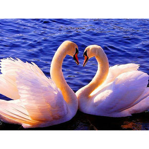 Pair Of Swan Diamond 5D Painting