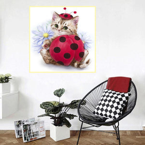 Cute Cat  5D Diamond Embroidery