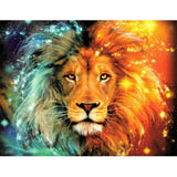 Star Sky Lion Head Diamond Embroidery