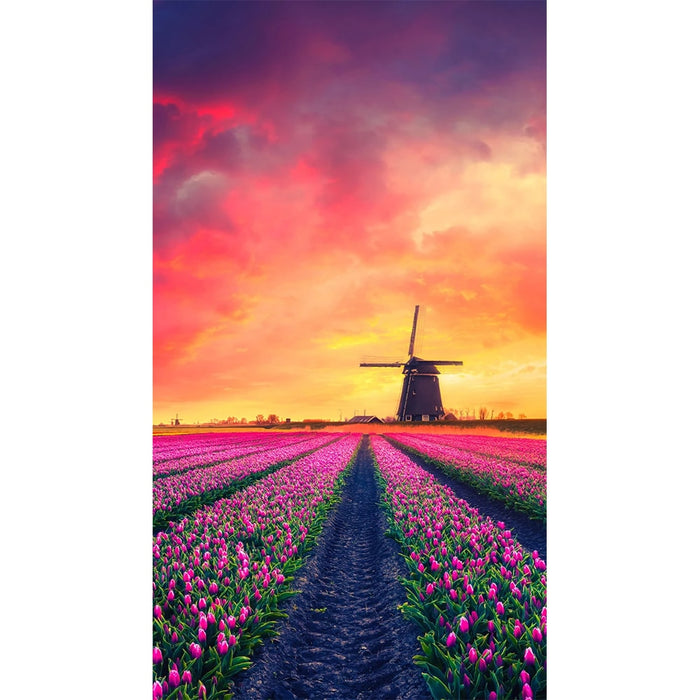 Dutch Windmill and Tulip Diamond Painting Kit