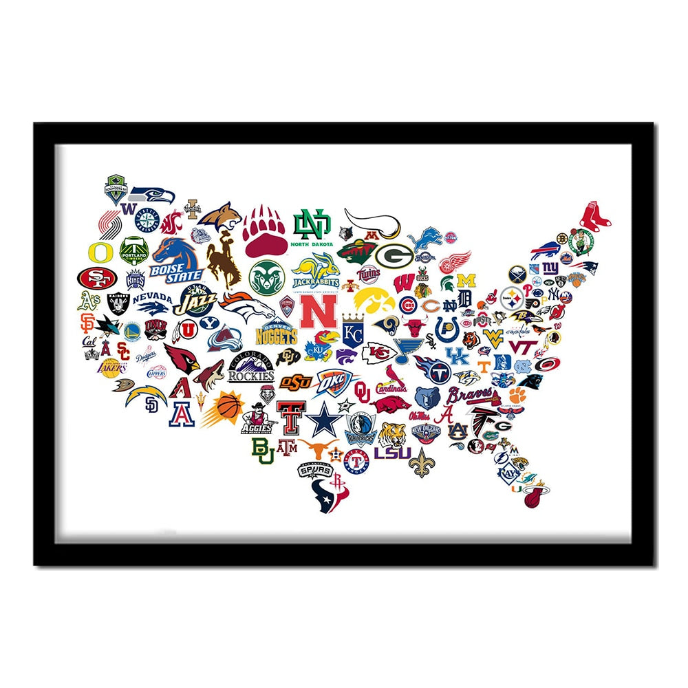 United States of Sports Map 5D Diamond Painting