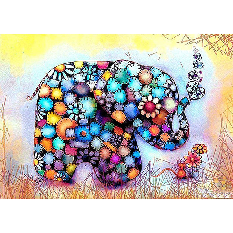 Colorful Elephant Diamond Embroidery Kit