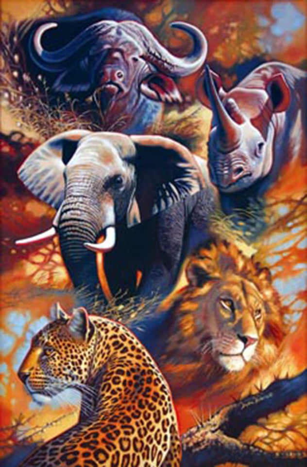 Big Five Animals Lord Full Diamond