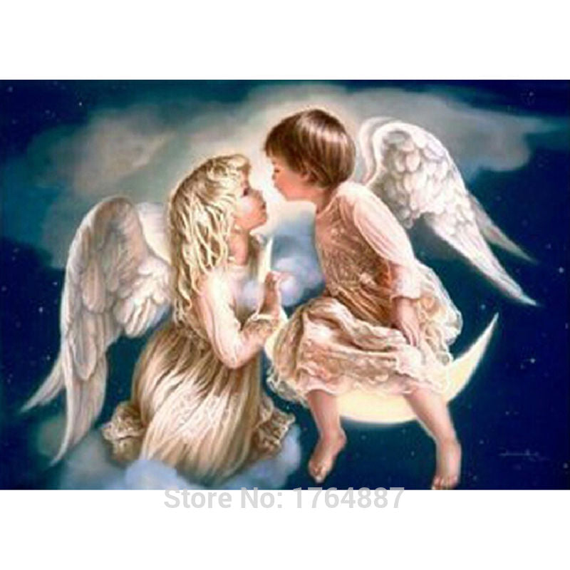 Little Angel Boy and Girl 5D Art