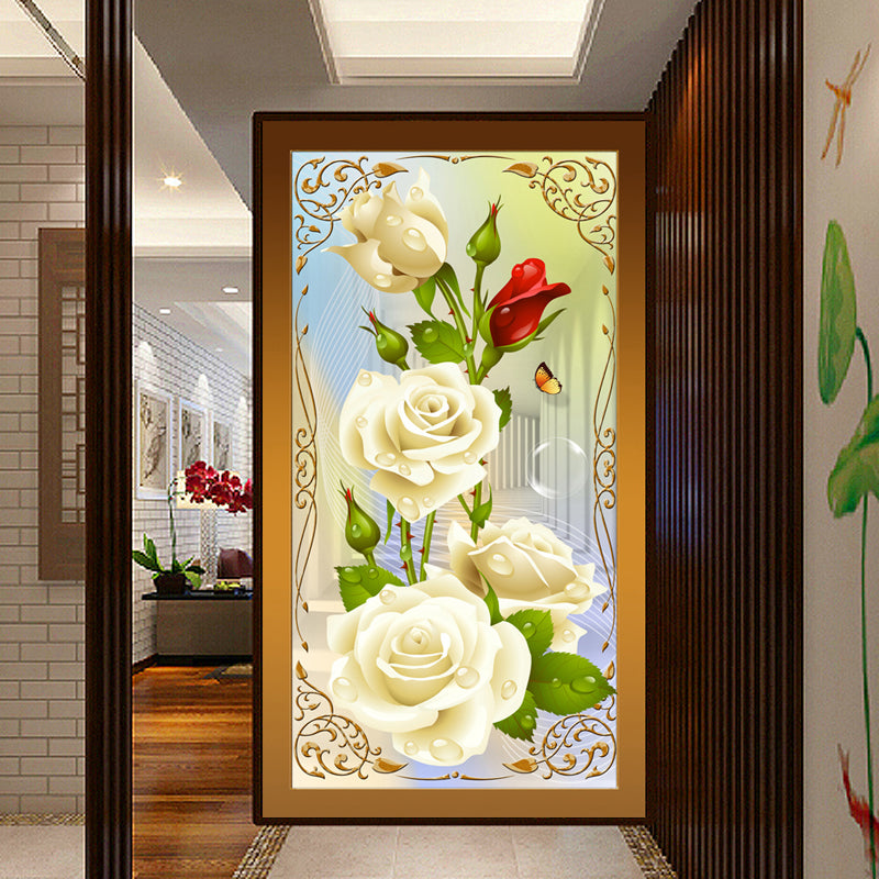 White Roses 5D Painting