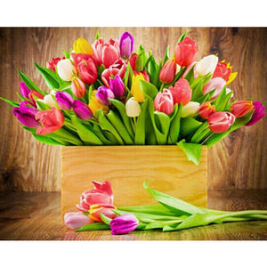 Tulip Colorful Flowers Diamond Painting