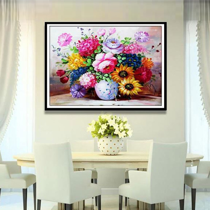 Vase Flower Crystal Diamond Painting
