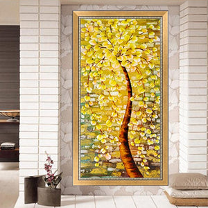 Golden Tree Diamond Painting